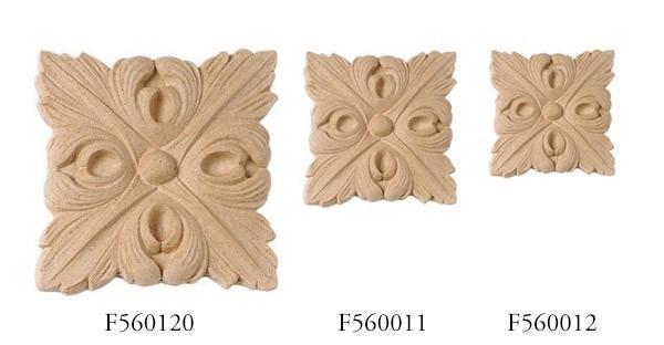 Ornament kwadratowy z pyłu drzewnego F560120