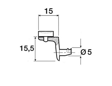 Podpórka z przyssawką do półki szklanej CM00029