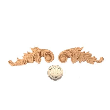 Ornament z pyłu drzewnego, komplet 2 szt. mini F571049