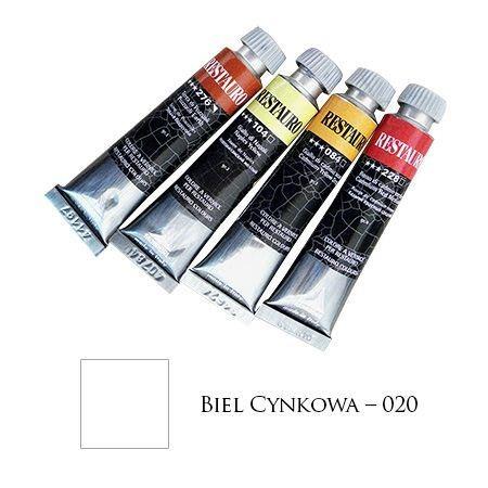 Farba Restauro 20ml, kolor 020 - biel cynkowa – MA00020