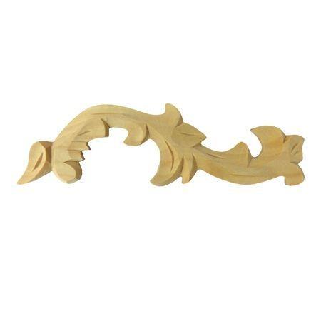 Ornament , dekor drewniany ręcznie rzeźbiony  prawy WY00012P