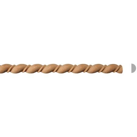 listwa drewniana półwalek EM00073M