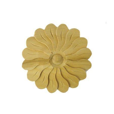 Ornament , rozeta drewniana ręcznie rzeźbiona WY00044