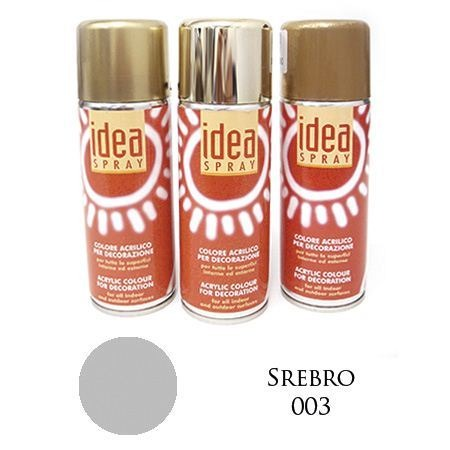 Farba Metaliczna Idea Spray Srebro 200ml Ma01081