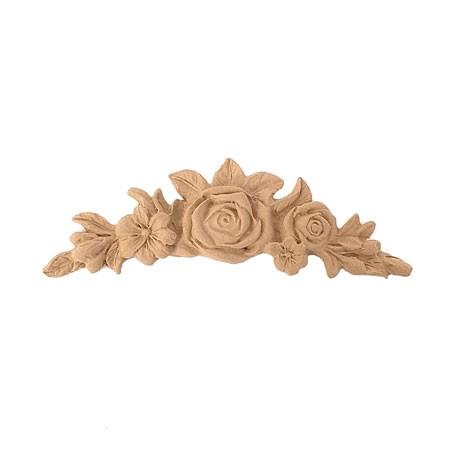 Ornament kwiatowy z pyłu drzewnego F570349
