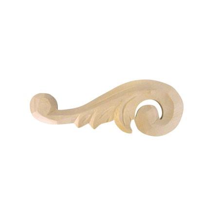 Ornament, dekor drewniany ręcznie rzeźbiony  Lewy WY00A24L