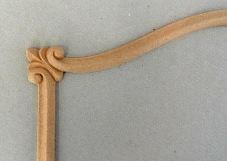 Ornament  aplikacja z pyłu drzewnego F560659