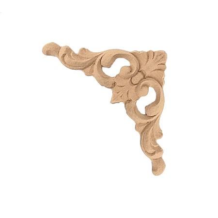 Ornament narożnik  z pyłu drzewnego F570390