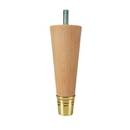Noga drewniana z mosiężną końcówką Tonio WY02164.OL
