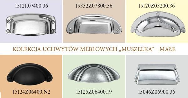 """Uchwyt meblowy  Orione  """"muszelka""""  15124Z06400.N2"""