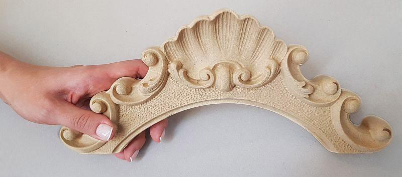 Ornament Korona z pyłu drzewnego  F560212