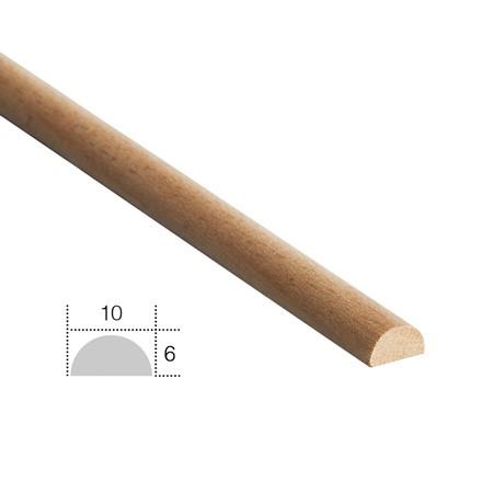 listwa drewniana, półwałek EM00602L