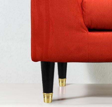 Noga drewniana z mosiężną końcówką WY02164.OL