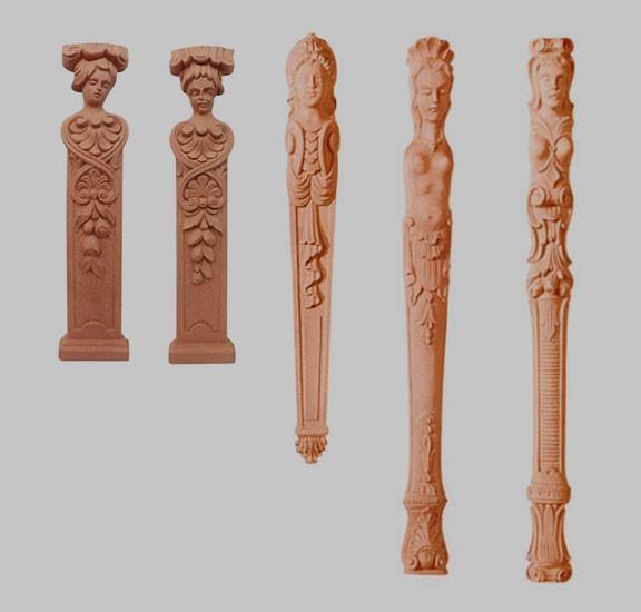 Pilaster , Kariatyda , ornament z pyłu drzewnego F560181