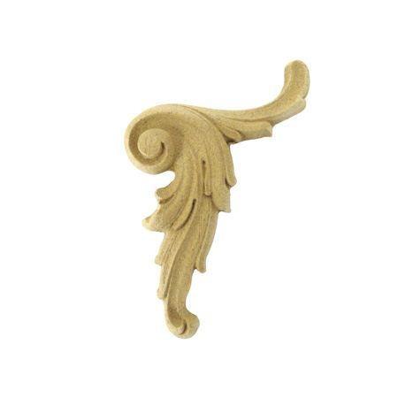 Ornament aplikacja  z pyłu drzewnego prawy F560258P