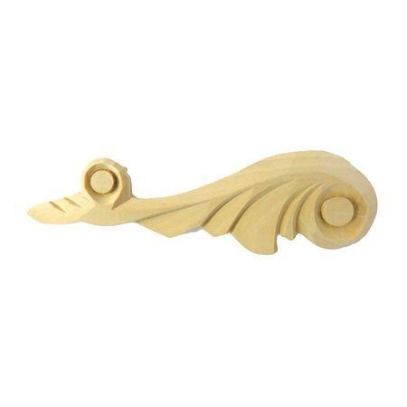 Ornament , dekor drewniany ręcznie rzeźbiony  lewy WY00024L