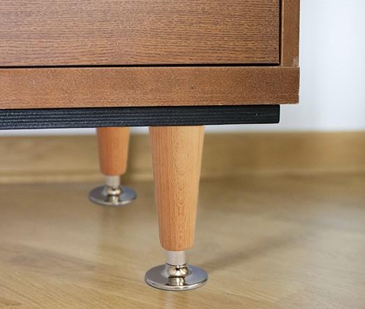 Noga drewniano-metalowa Tosco WY02048.CR