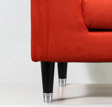Noga drewniana z mosiężną końcówką Tonio WY02164.CR