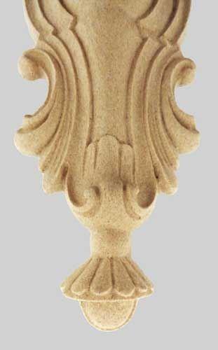 Ornament kapitel mały z pyłu drzewnego F560308