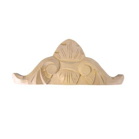 Ornament, korona drewniana ręcznie rzeźbiona  WY00042