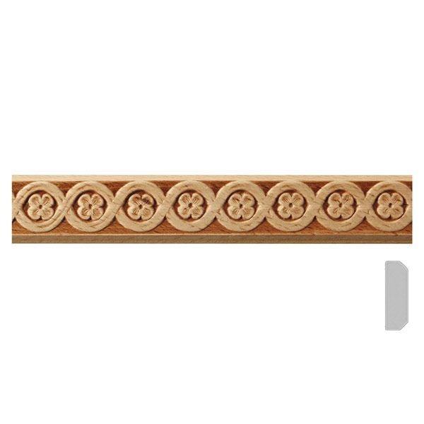 listwa drewniana ozdobna z wzorem  EM00502