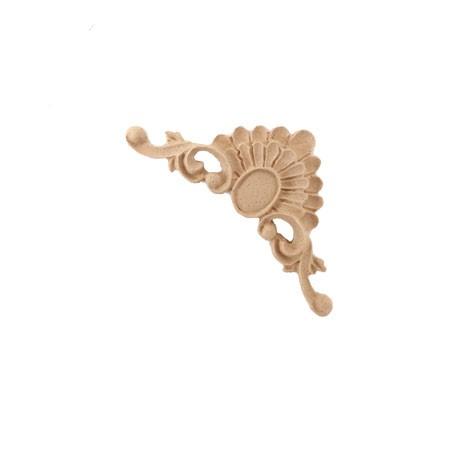 Ornament narożnik  z pyłu drzewnego, mini  F570233