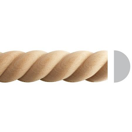listwa drewniana półwałek EM00036M