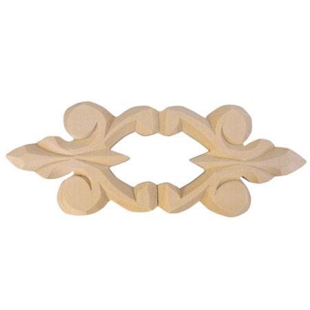Ornament, aplikacja drewniana ręcznie rzeźbiona  WY00036B