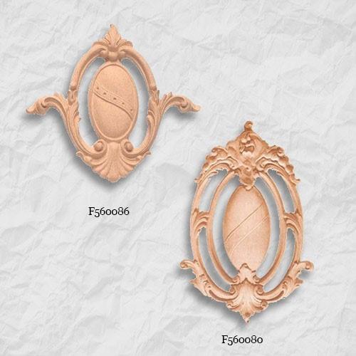 Ornament , kartusz z pyłu drzewnego  F560080