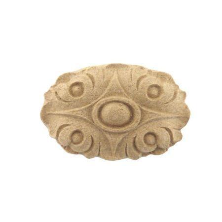 Ornament owalny z pyłu drzewnego F560106