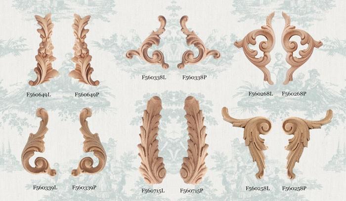 Ornament dekor z pyłu drzewnego lewy F560715L