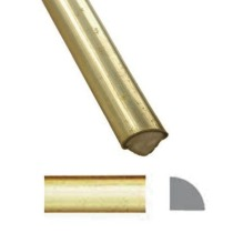 Listwa mosiężna z rdzeniem drewnianym  55002.00500.66
