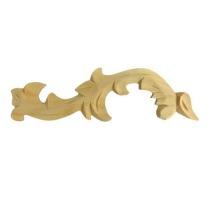 Ornament , dekor drewniany ręcznie rzeźbiony  lewy WY00012L