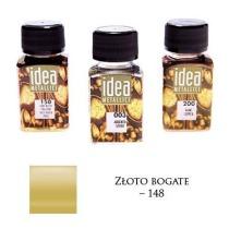 Farba metaliczna IDEA złoto bogate 60ml – MA07093