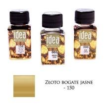 Farba metaliczna IDEA złoto bogate jasne 60ml – MA07094