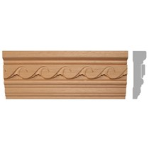 listwa, gzyms drewniany rzeźbiony EM00297
