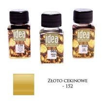 Farba metaliczna IDEA złoto cekinowe 60ml – MA07095